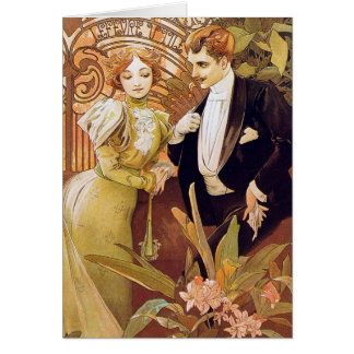 Kunst Nouveau Flirt Karte