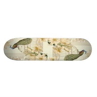 Kunst nouveau französische Lilie Vintager 19,1 Cm Old School Skateboard Deck