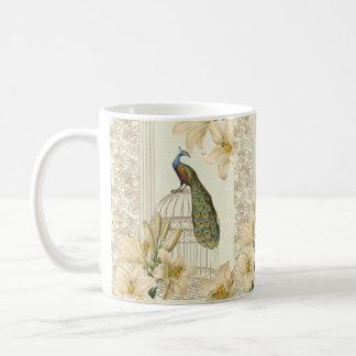 Kunst nouveau französische Lilie Vintager Kaffeetasse