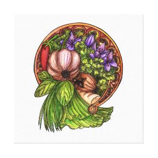 Kunst nouveau Gemüse Leinwanddruck