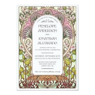Kunst Nouveau Hochzeits-Probe Karte