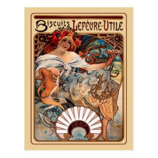 Kunst Nouveau - Kekse Lefeure-Utile Postkarte