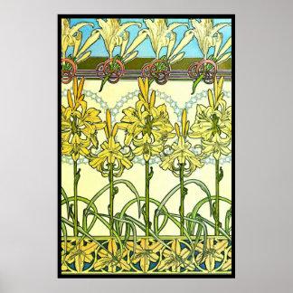 Kunst Nouveau Lilien 1901 Posterdrucke