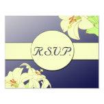 Kunst Nouveau Lilien, die R.S.V.P. Wedding sind 10,8 X 14 Cm Einladungskarte