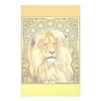 Kunst Nouveau Löwe Briefpapier