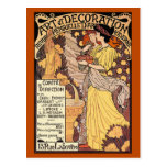 Kunst Nouveau Postkarte: Kunst u. Dekoration