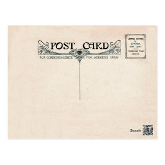 Kunst Nouveau Postkarten-Foto-Front Postkarte