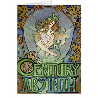 Kunst Nouveau schöne Frau #14 durch Alphonse Mucha Karte