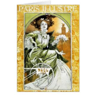 Kunst Nouveau schöne Frau #1 durch Alphonse Mucha Karte