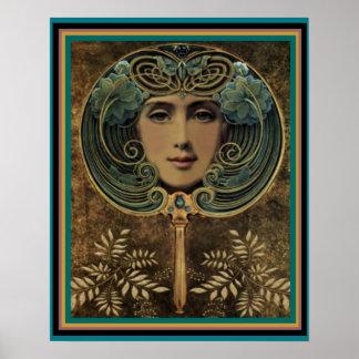 Kunst Nouveau stellen im Spiegel 16 x Plakat 20