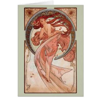 Kunst Nouveau - Tanz Karte