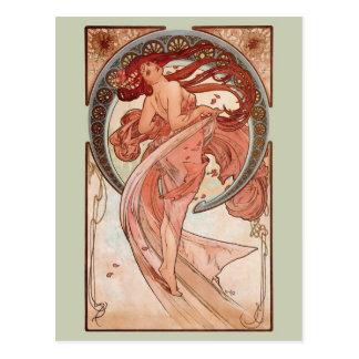 Kunst Nouveau - Tanz Postkarte