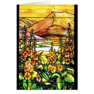 Kunst Nouveau Tiffany Buntglas-Natur Karte