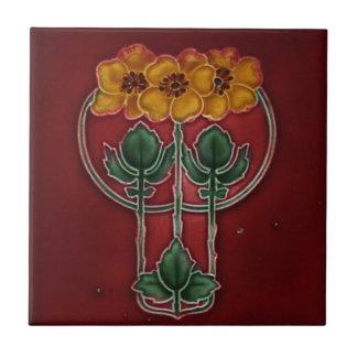 Kunst Nouveau Vintage Keramikfliese