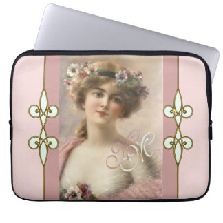 Kunst Nouveau Vintage nostalgische viktorianische Laptopschutzhülle
