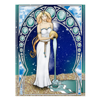 Kunst Nouveau Wassermann-Postkarte Postkarte