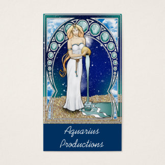 Kunst Nouveau Wassermann-Visitenkarte Visitenkarten