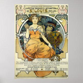Kunst Nouveau Weltausstellung 1904 durch Alphonse Poster