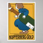 Kunst Nouveau Werbungs-Plakat-Druck: Champagne