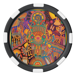 Kunst Oaxacas Mexiko mexikanische Stammes- Boho Pokerchips