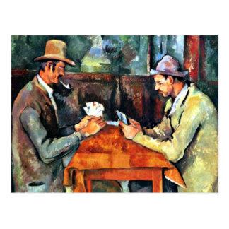 Kunst Pauls Cezanne: Die Kartenspieler (zwei) Postkarte