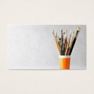 Kunst-Pinsel in der Schale Visitenkarten