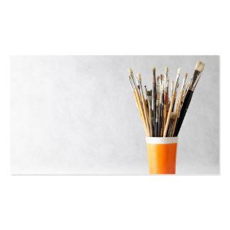 Kunst-Pinsel in der Schale Visitenkarten Vorlage