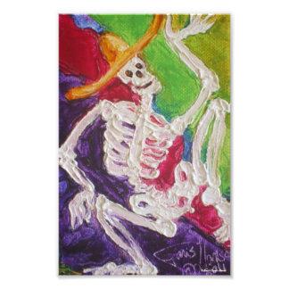 Kunst-Plakat Dia De Los Muertos Skeleton Halloween Foto Drucke
