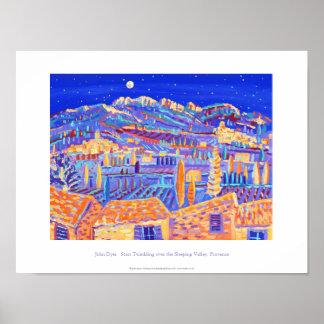 Kunst-Plakat: Funkelnde Sterne, Provence Poster