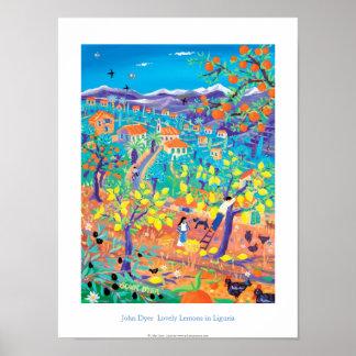 Kunst-Plakat: Reizende Zitronen in Ligurien, Poster