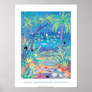 Kunst-Plakat: Tropisches Garten-Paradies, Côte Poster