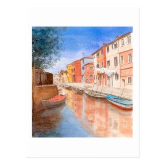 Kunst-Postkarten-Insel von Burano