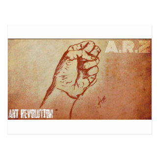 Kunst-Revolution Postkarte