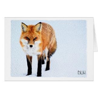 Kunst roten Fox/der wild lebenden Karte