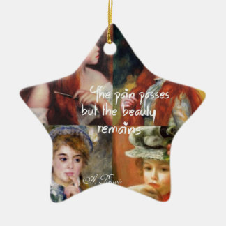 Kunst, Schönheit und Liebe in Renoir Malereien Keramik Stern-Ornament