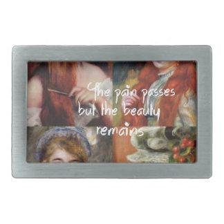 Kunst, Schönheit und Liebe in Renoir Malereien Rechteckige Gürtelschnallen