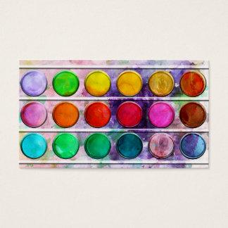 Kunst-Spaß-bunter Farben-Farbkasten Visitenkarten