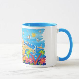 Kunst-Tasse: Sommerzeit-Tage, St. Ives, Cornwall Tasse