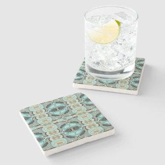 Kunst Taupe-aquamariner Aqua-Türkis-angesagte Steinuntersetzer