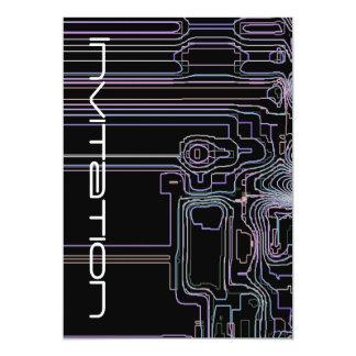 Kunst Techno Karten 12,7 X 17,8 Cm Einladungskarte