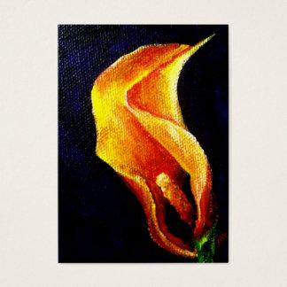 Kunst-Trading Cards der Calla-Lilien-I ACEO Visitenkarte
