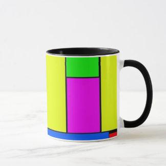 Kunst von abstraktem tasse
