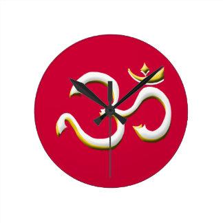 Kunst von OM-/OM-Symbol - reden Sie immer auf Mode Runde Wanduhr