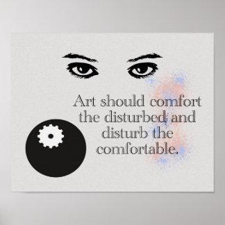 Kunst - Zitat über Kunst - Kunst-Druck Poster