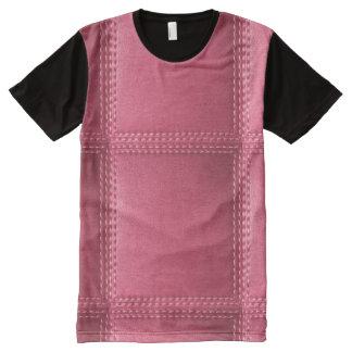 Künste-Grafik-Kunst masert n-Musterleder T-Shirt Mit Komplett Bedruckbarer Vorderseite
