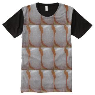 Künste-Grafik-Kunst masert n-Mustersteine T-Shirt Mit Bedruckbarer Vorderseite