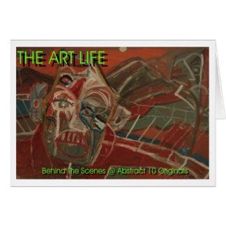 Kunstleben-Flyer Grußkarte