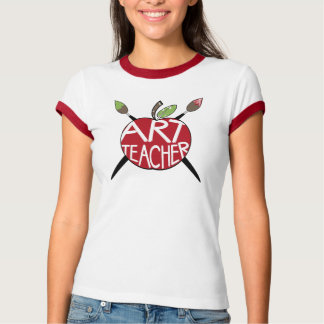 Kunstlehrer gemaltes Apple u. Pinsel T Shirts