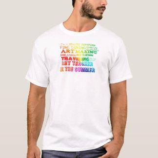 Kunstlehrer im Sommer-Regenbogen T-Shirt
