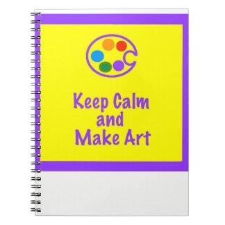 Kunstlehrer-Notizbuch - behalten Sie Ruhe und Spiral Notizblock